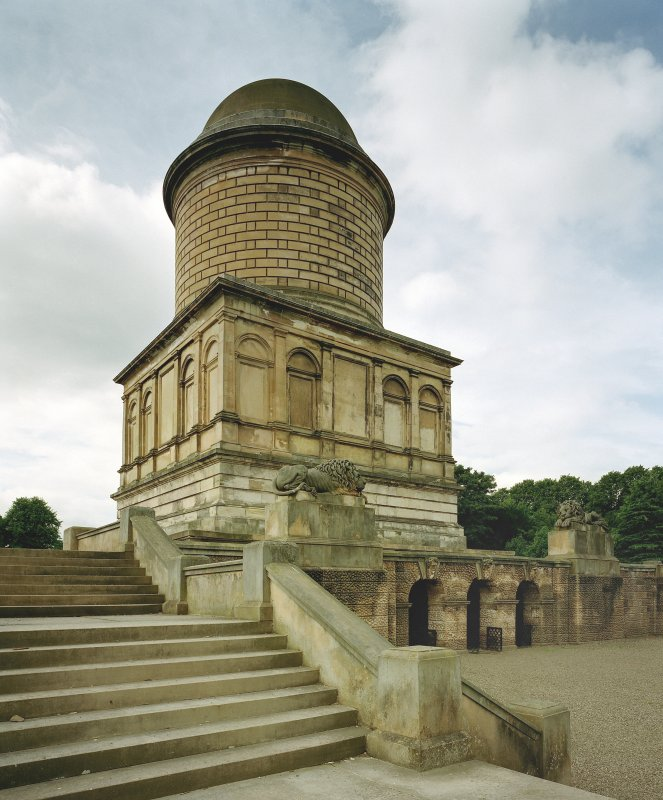 View of mausoleum, Hamilton, from South-East.