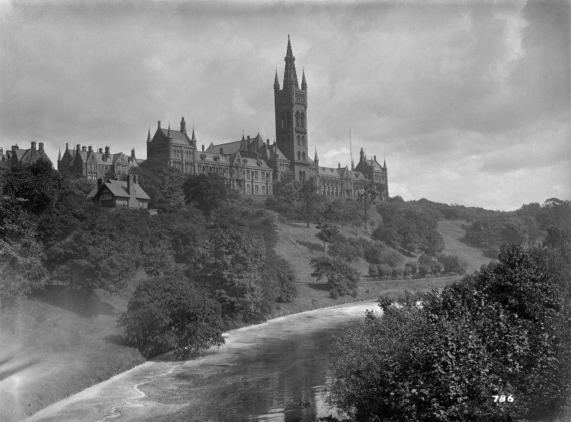 Distant general view of Glasgow University