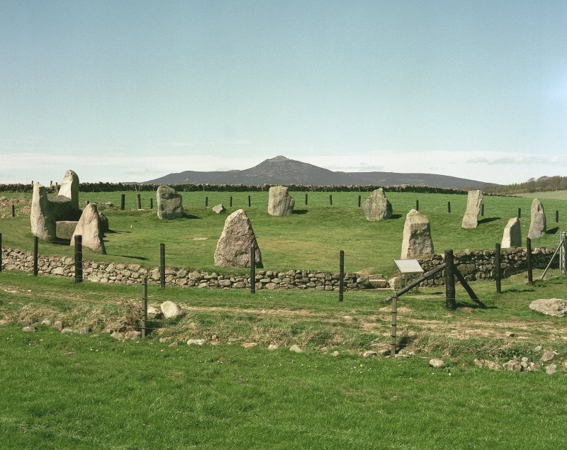 View of recumbent stone circle, Easter Aquhorthies.