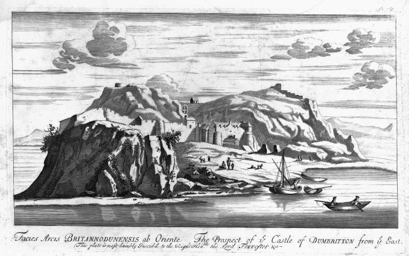 Digital image of engraving showing view from South-West from Theatrum Scotiae by John Slezer.