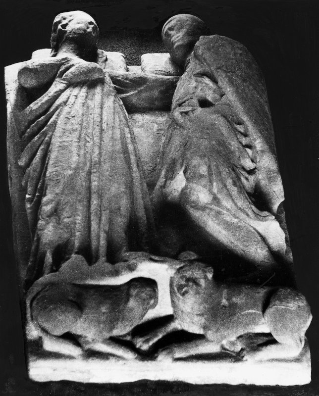 Double effigy of Walter Stewart, Earl of Menteith and his wife.