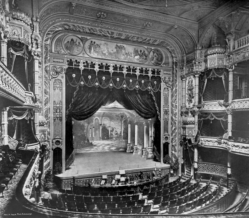 View of Empire Theatre interior by Matcham, Nicholson Streetm Edinburgh.