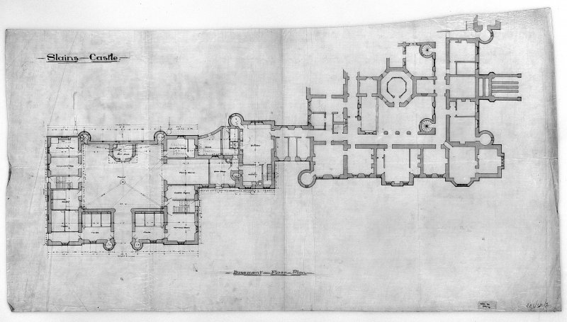 Digital image of plan of basement floor.