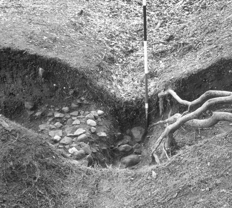 Excavation trench.