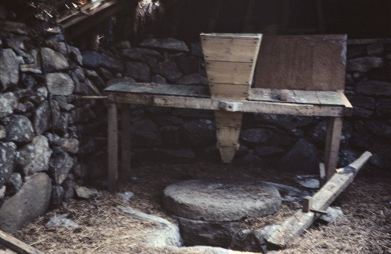 View of interior of Horizontal Mill. Copy of 35 mm colour transparency.