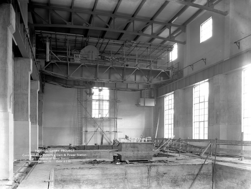 Interior of Power Station. Copy of negative, Tummel Valley, Box 889/1, Contract No. 17, Ser. No. 71.