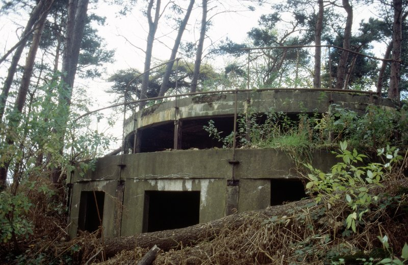 View of coast battery.