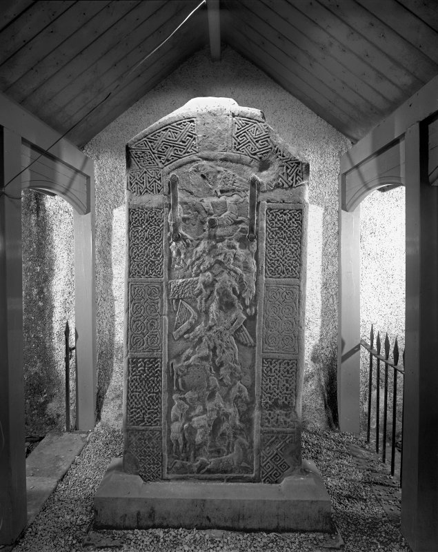 Nigg Pictish cross slab. (Reverse)