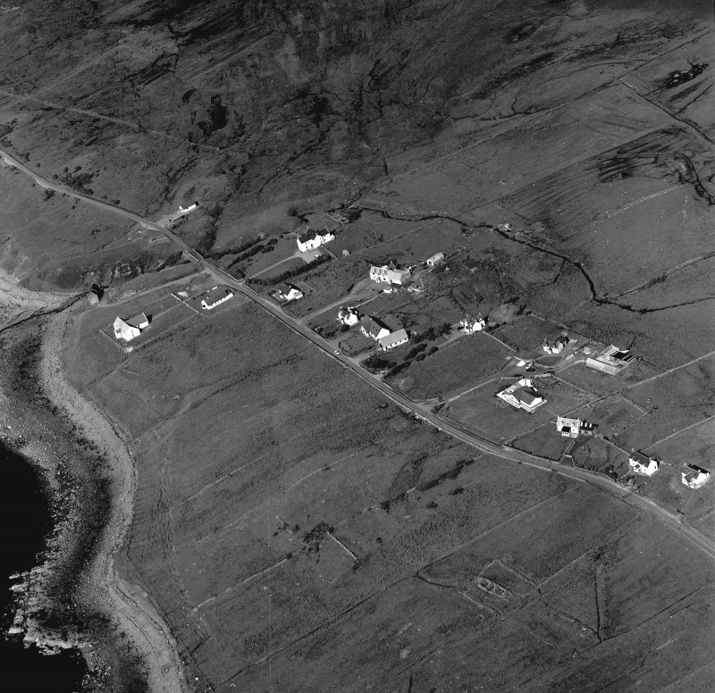 Oblique aerial view of township.