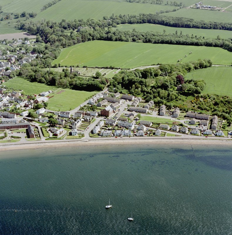 Aerial view of the west part of the town of Cromarty, taken from the NW.