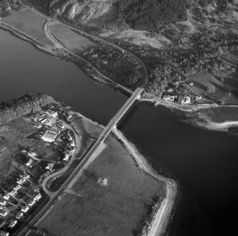 Scanned image of oblique aerial view
