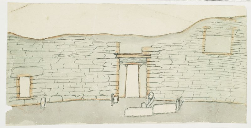 Elevation drawing of interior wall of broch.