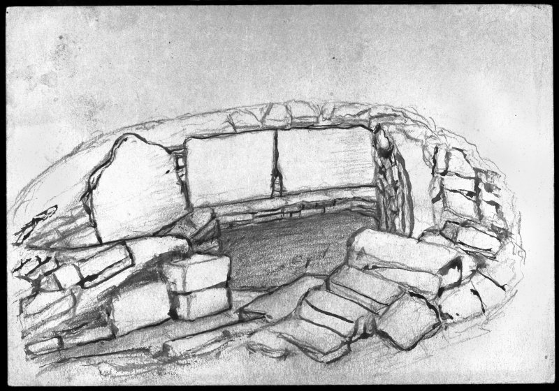 Drawing of stone-built structure no. 3.