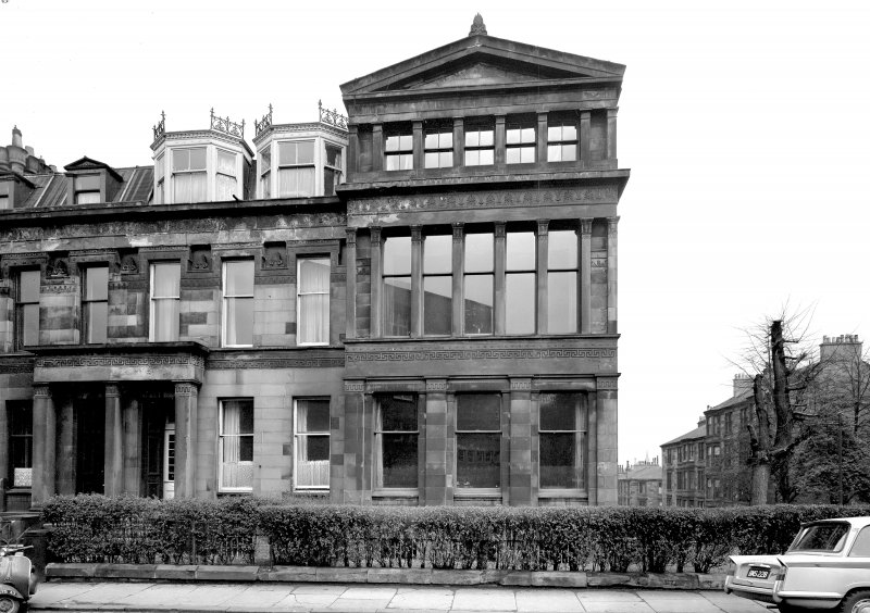 Glasgow, 41-53 Oakfield Avenue. Scanned image of view of Nos 51 &53 from West.