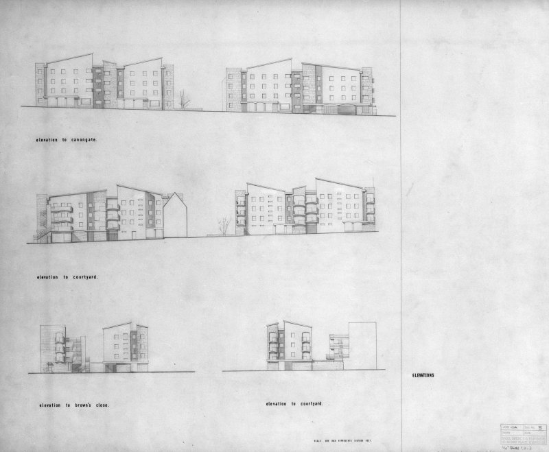 Edinburgh, 65-103 Canongate. Elevations. Scanned image of D 64819.