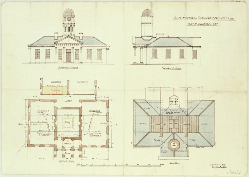 Plans and elevations. Scanned image of E 12245 CN.