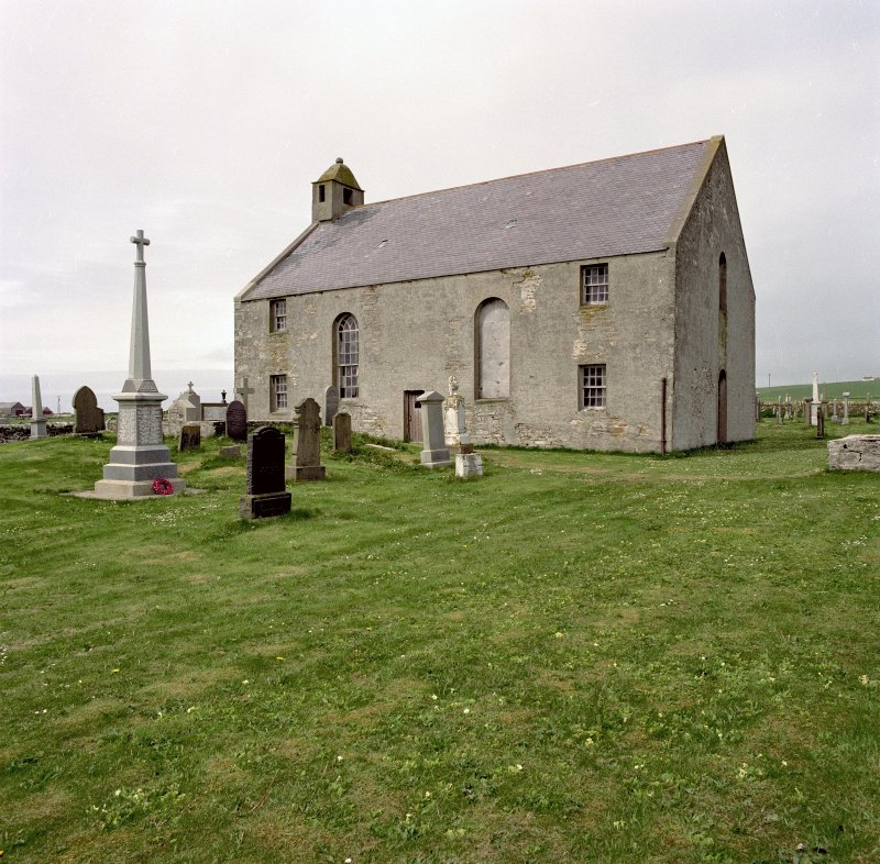 View from South East of St Peter's Kirk, Sandwick.