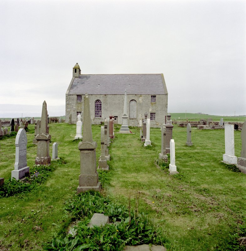 View from South of of St Peter's Kirk, Sandwick.