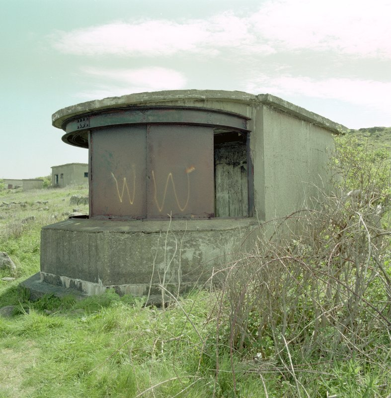 Scanned image from North West of earlier type of searchlight emplacement with focussing shutters still in situ.