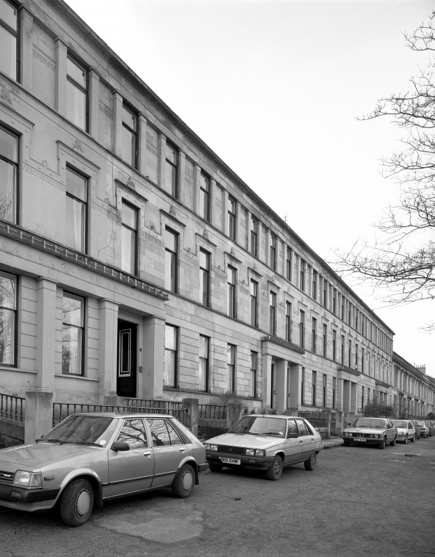 Glasgow, 35-51 Hamilton Drive, (1-9 North Park Terrace). General view from the North-East.