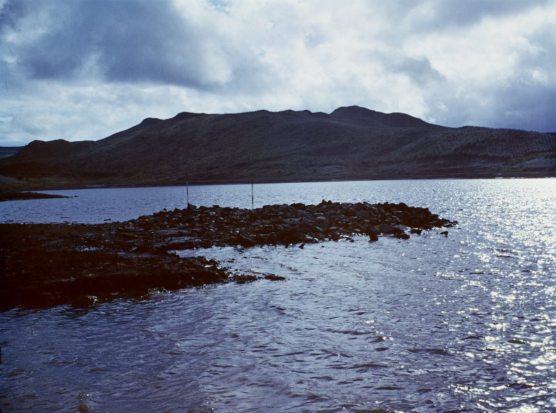 View of Loch Glashan crannog.