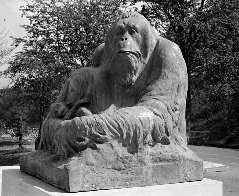'Jungle Family', sculpture of orang-utan family by Benno Elkan, London, 1938