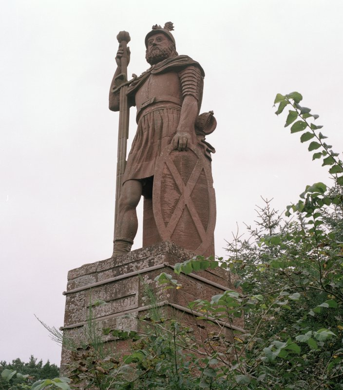 Scanned image of view of statue from south