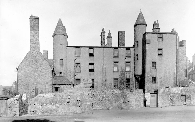 Aberdeen, Broad Street, Provost Skene's House. General view from South-East.