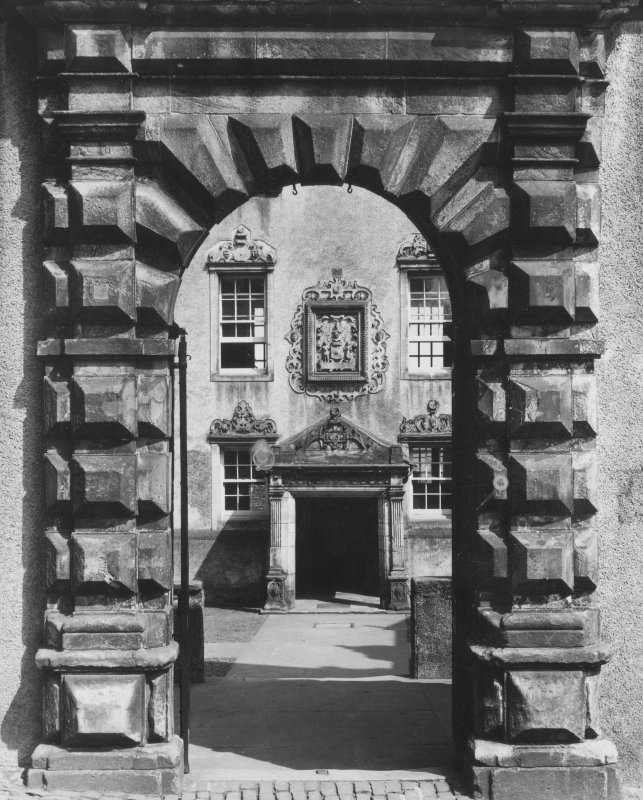 Detail of doorway. Argyll's Lodging, Stirling.