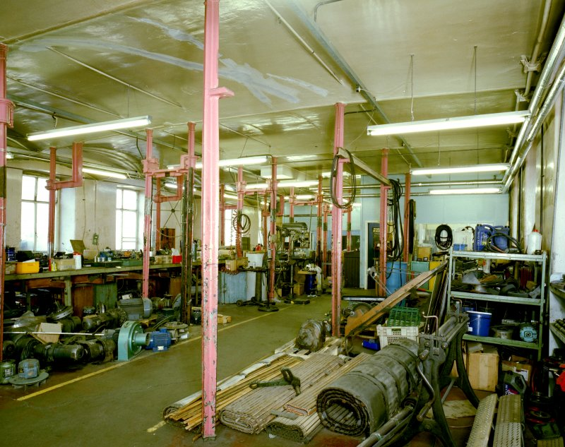 Interior.  Ground floor workshop area from SE