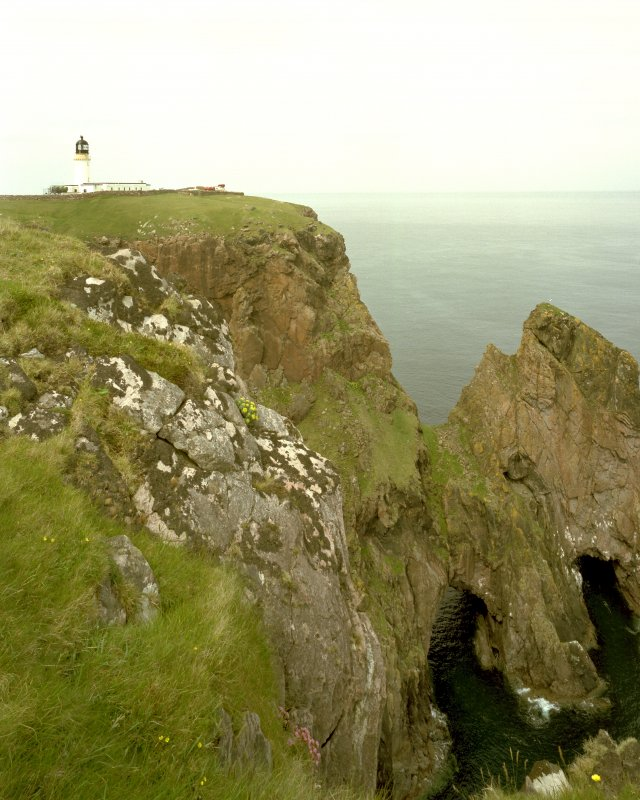 View of Cape Wrath Lighthouse and cliffs from E.