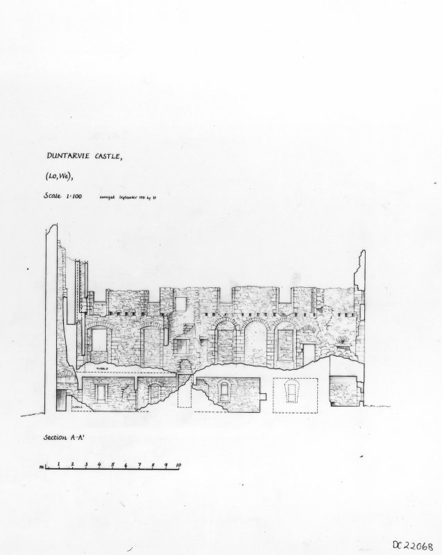Scanned image of drawing showing section.