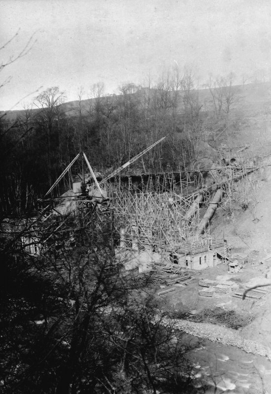 General view of Power Station under construction.