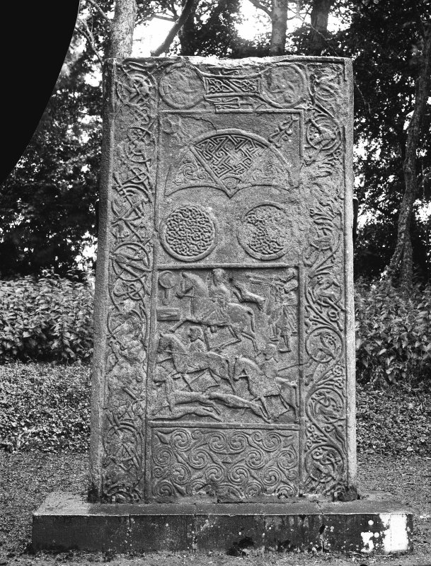 Hilton of Cadboll Pictish cross slab. (Reverse)  Reproduced in Allen and Anderson 1903, Early Christian Monuments of Scotland, Fig.59.