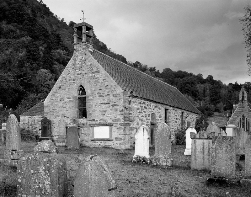 General view of Old Parish Kirk and burial-ground, Weem.