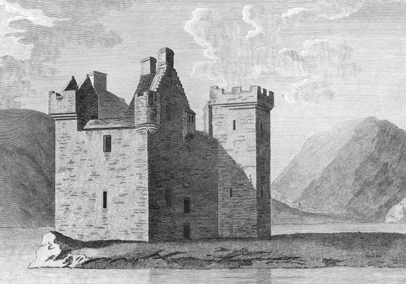 Engraving showing general view.