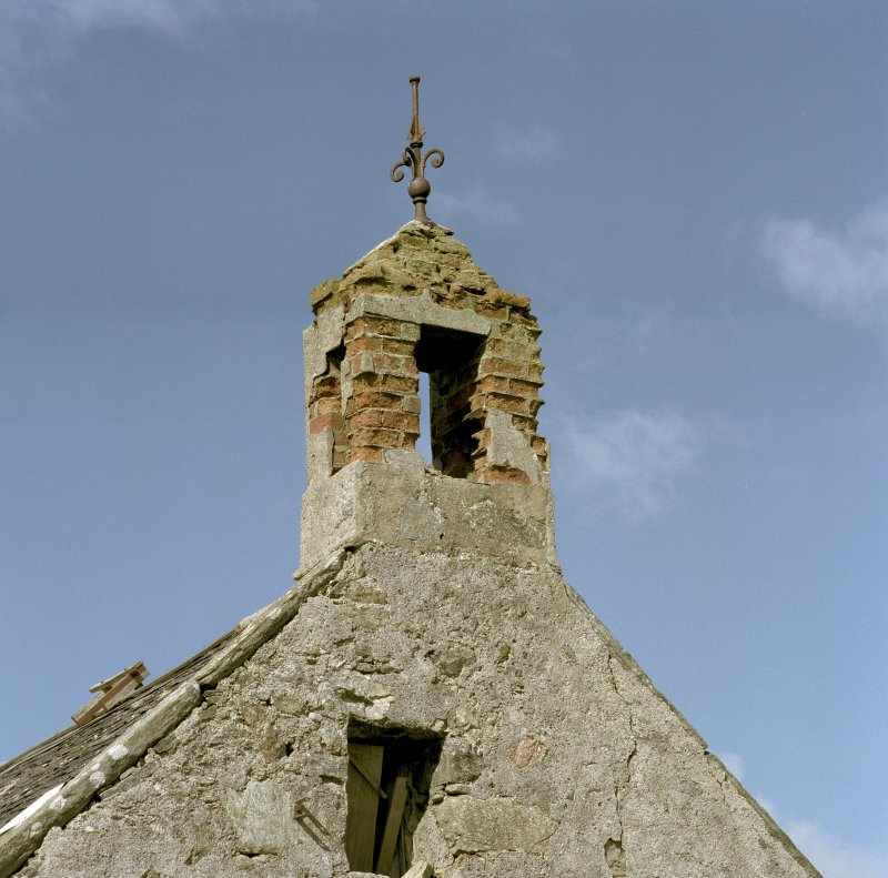 S-W range of steading, detail of bell cote