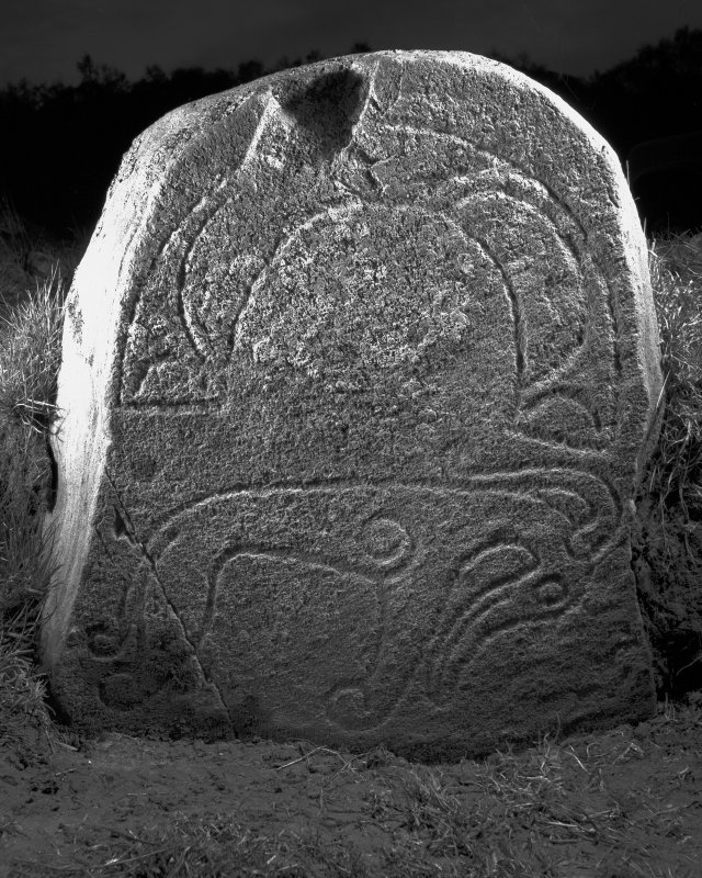 Parc-an-Caipel, Congash. Detail of Pictish symbol stone 2.