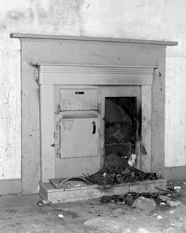 View of fireplace in ground floor kitchen