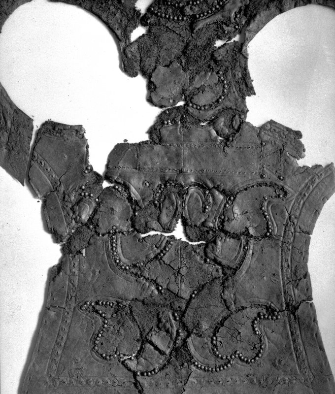 View of artefact from the James Curle excavation 1905-1909.