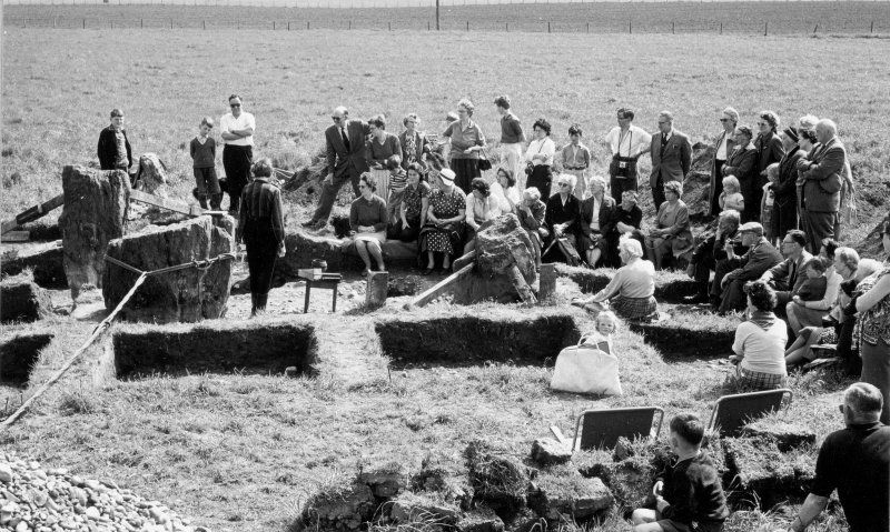 "Excavation photograph -""open at home at end of excavation"""
