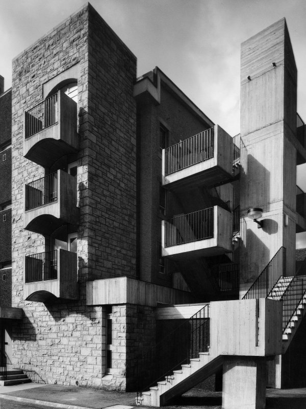 Photographic view of housing at 2 Brown's Close showing staircase.