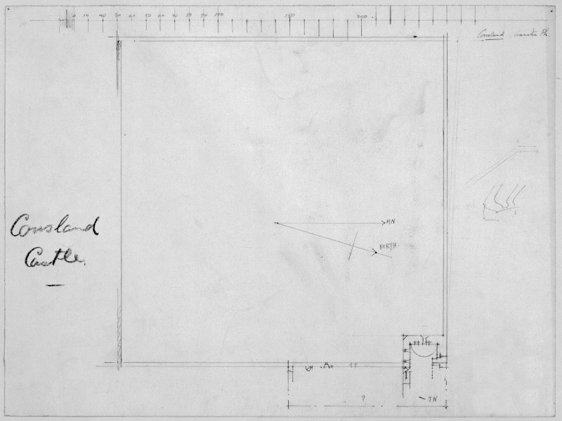 Scanned image of drawing showing plan.