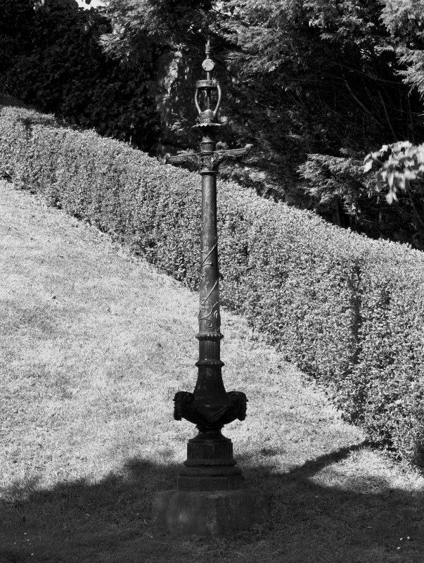 Detail of cast ironlamp standard