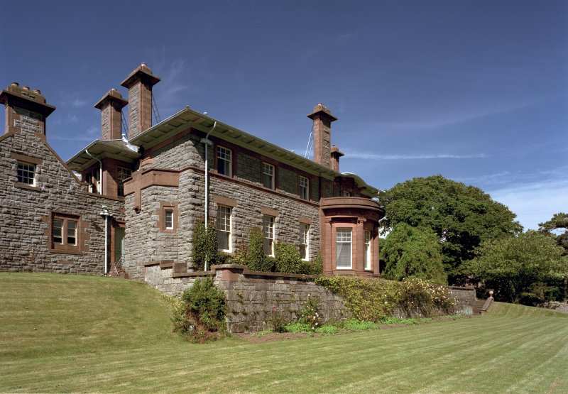View from South West showing main house