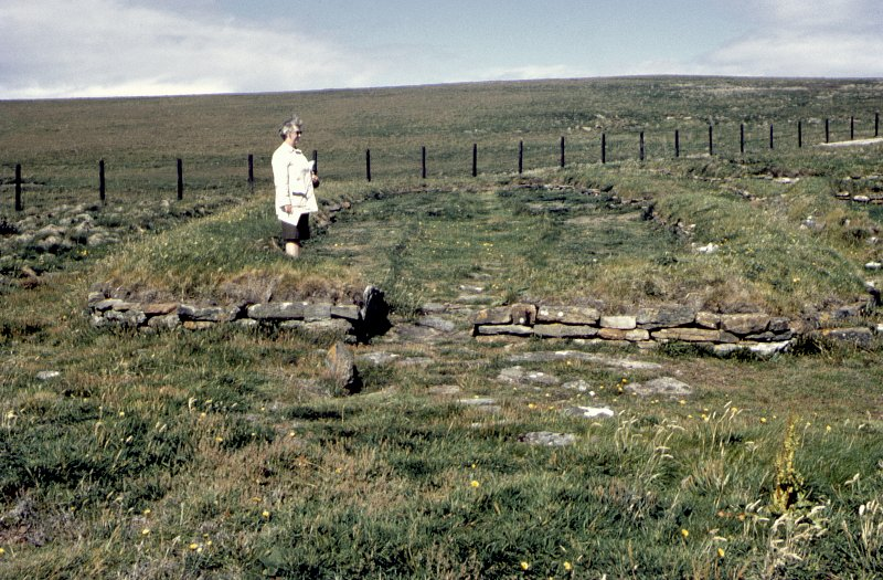 Copy of colour slide, Norse House, Brough of Birsay ,Orkney . NMRS Survey of Private Collection  Digital Image Only