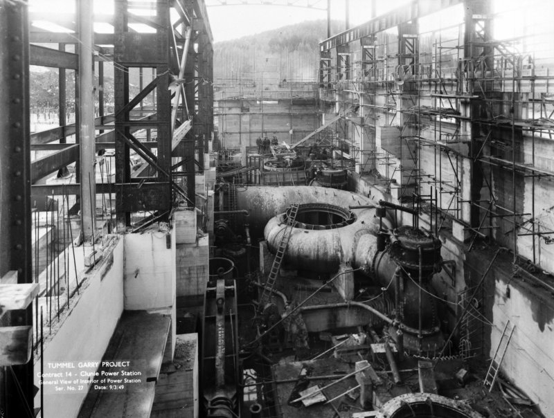 Tummel/Garry Project. Contract 14. Clunie Power Station. General view of interior of power station. Tummel/Garry Project, Plate 27.