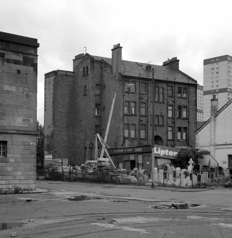 Glasgow 162-170 Gorbals Street, British Linen Bank General view of rear from North West.