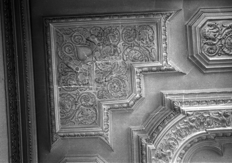 Interior. Detail of ceiling.