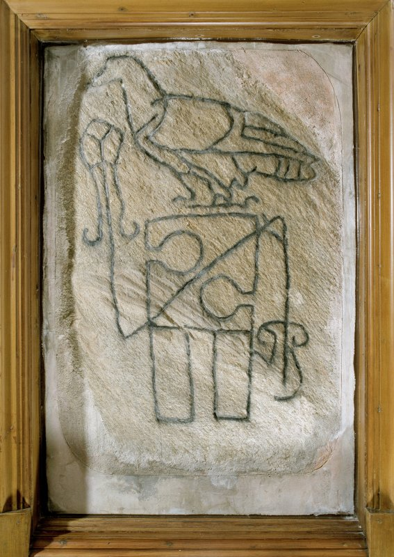 The Raven Stone, Pictish symbol stone. Digital copy of E 56711 CN.